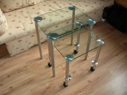 Metal and glass tables - Image 1