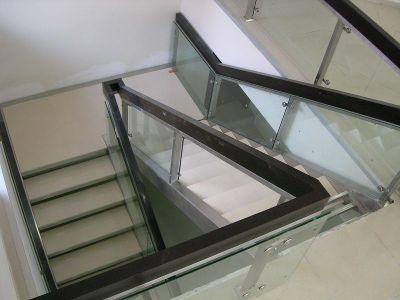 Interior metal stairs