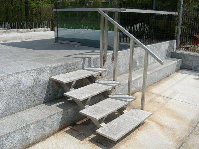 External metal stairs
